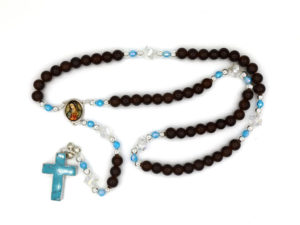 Personalized Our Lady of Guadalupe Glass Rosary