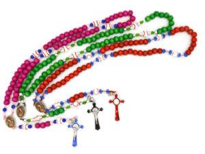 Baseball Rosary (three bright colors)