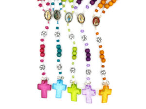 Soccer Rosary (five bright colors)