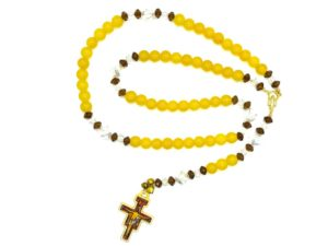 Personalized Special Occasion Glass Rosary