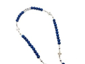 Personalized Blue Cross Rosary
